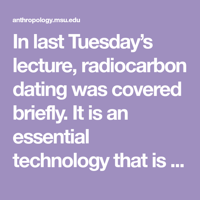 Carbon dating lecture