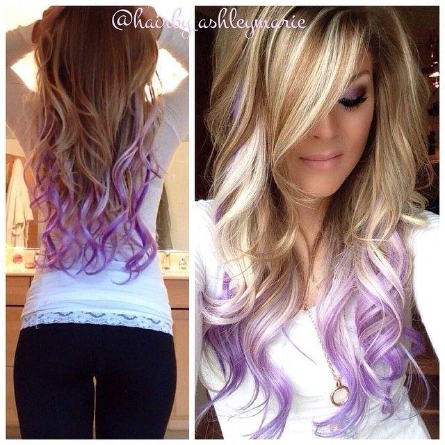 Pin By Violet Johnson On Hair Dip Dye Hair Purple Hair Tips