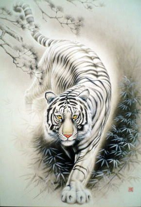 tigre bianca tigr pinterest tiger tattoo tattoos and jigsaw puzzles. Black Bedroom Furniture Sets. Home Design Ideas