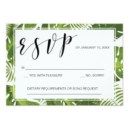 wedding - #RSVP card template tropical elegant wedding makeup - wedding card template