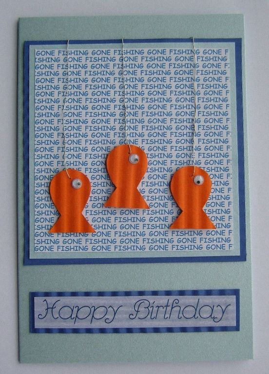 Fishing Birthday Card Card and tags Pinterest – Fishing Birthday Cards