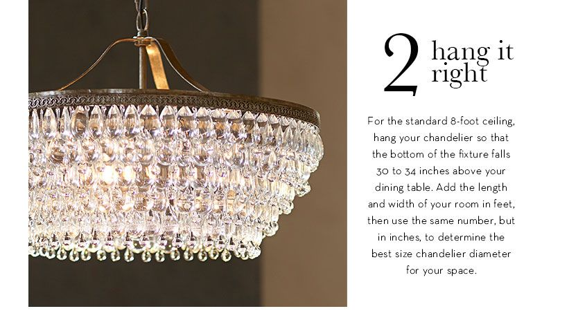 Pottery Barn Lighting Tip Chandeliers Hanging Size For Room The Standard 8 Foot Ceiling Hang Your Chandelier So That Bottom Of Fixture