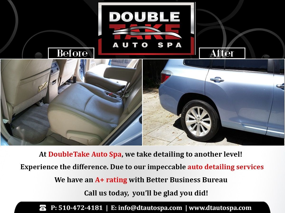 Call Double Take Auto Spa For The Best Detailing Service In Town We Promise To