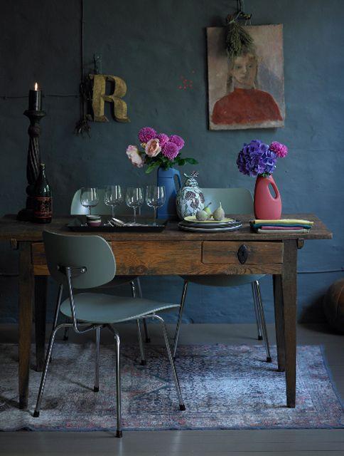 Foto pinnata dalla nostra lettrice di cafelab via sweet for Interni colorati casa