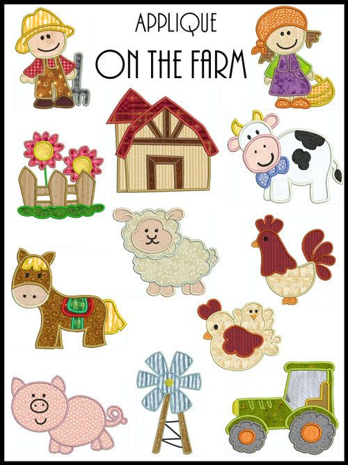 On The Farm Machine Applique Embroidery Instant