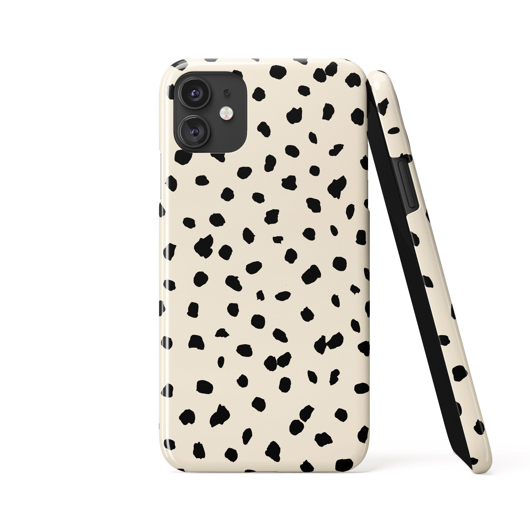 DOTTIE ANIMAL PRINT Cream Phone Case - iPhone SE 2020 / 8 / 7 / Snap Case - Gloss