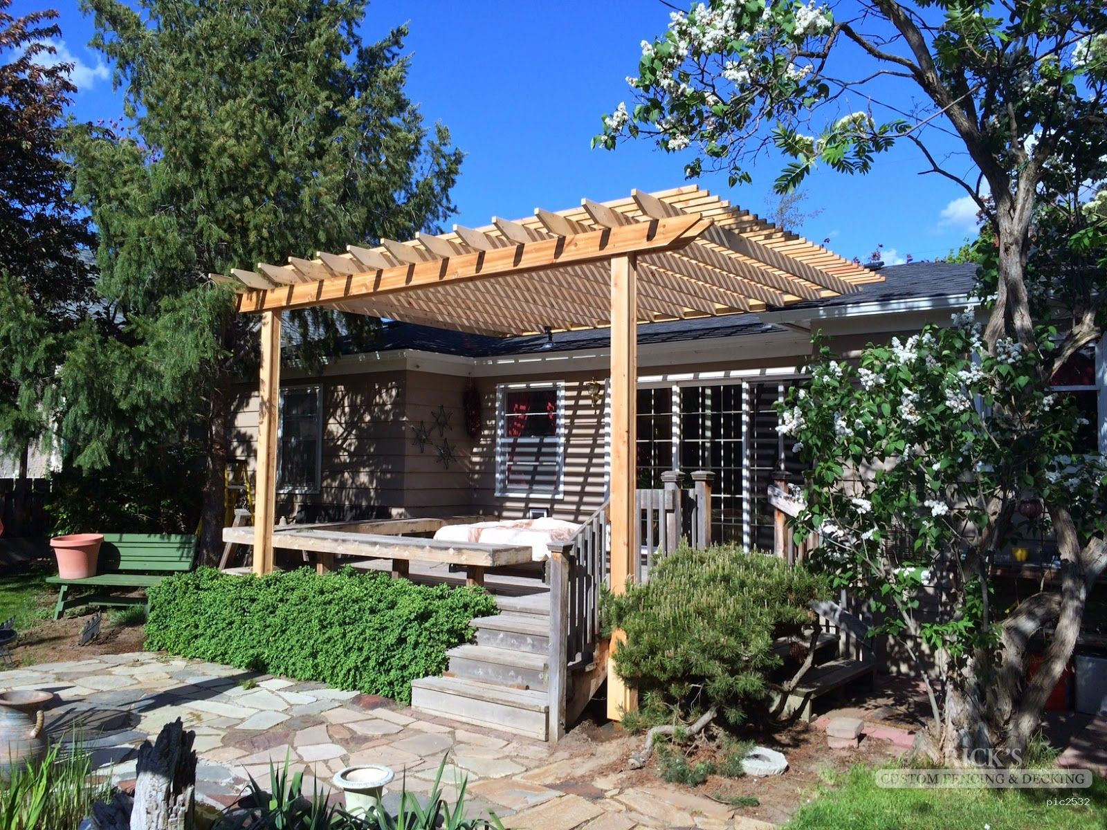 cedar pergola cedar pergola kits from ricksfencing com our custom