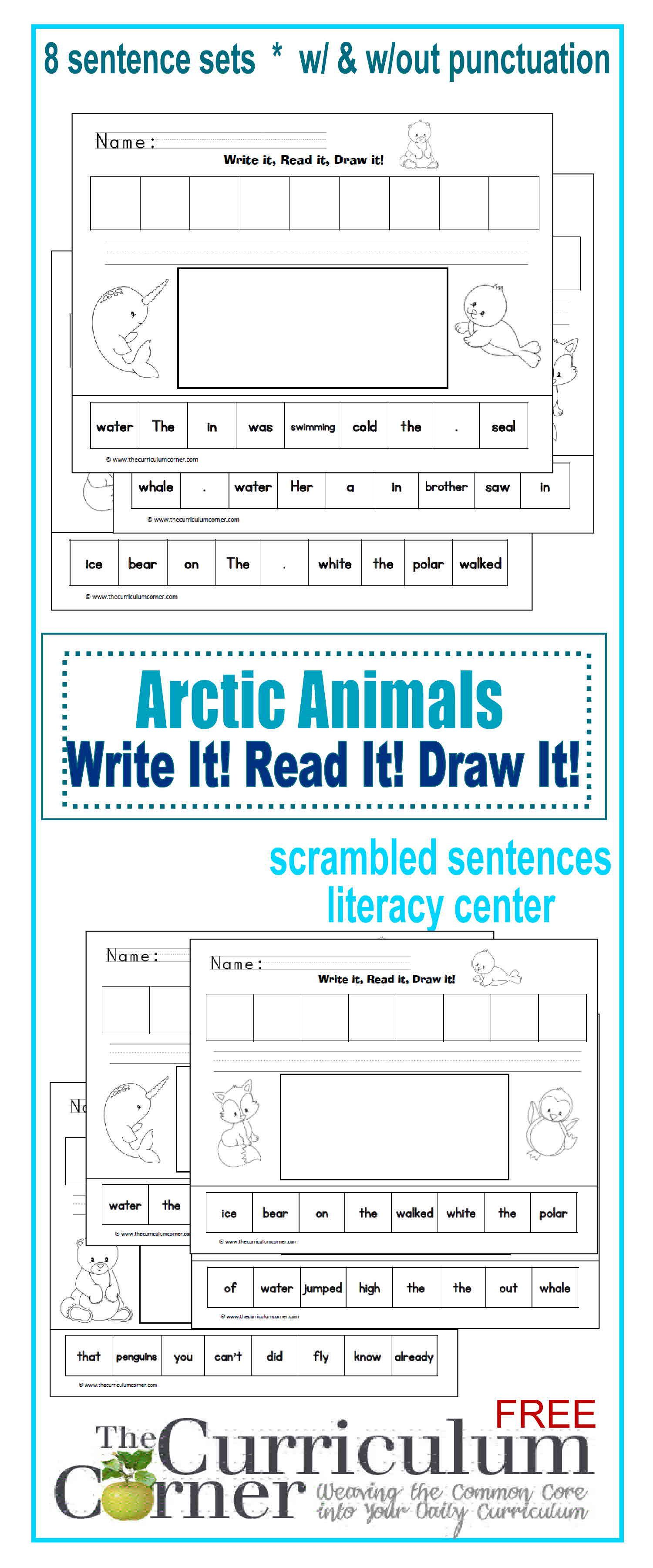 Arctic Animals Write It Read It Draw It With Images