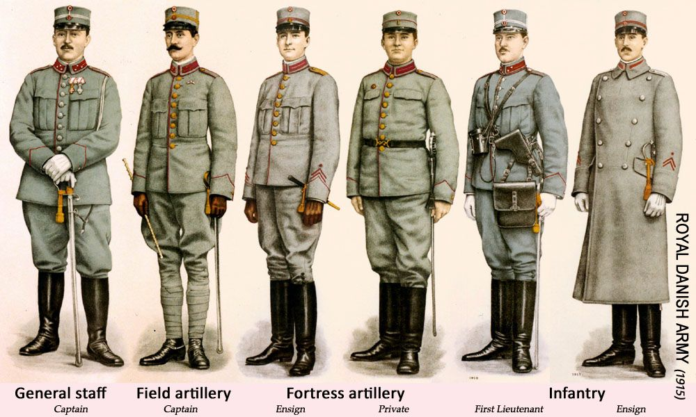 danish army uniforms 1915 military uniforms pinterest army