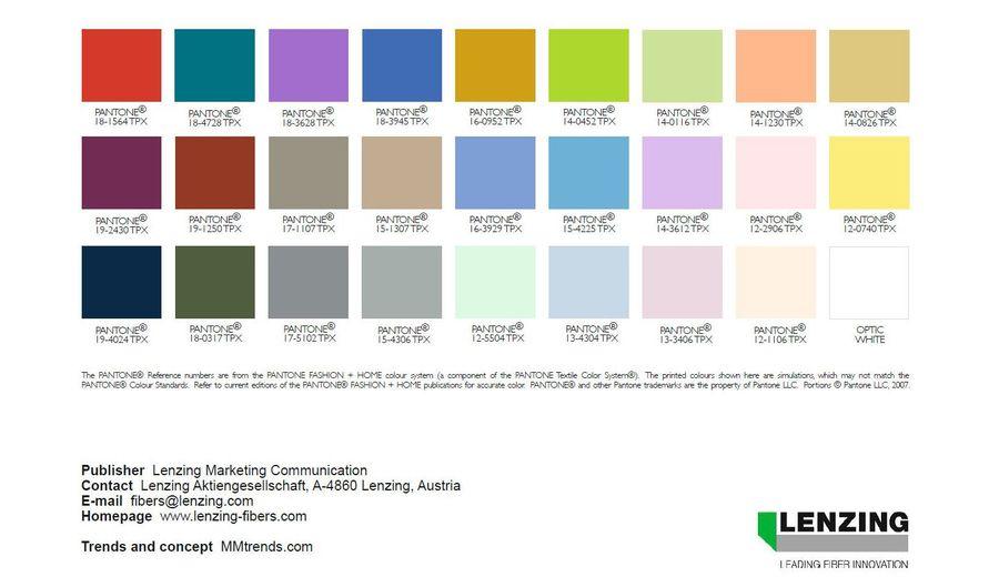 Lenzing Color Trends Spring Summer Ss Pinterest