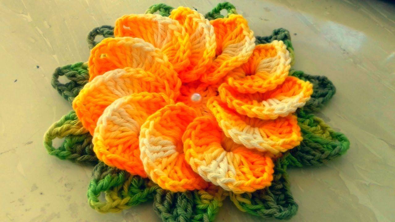 Como Fazer Flor De Crochê Passo A Passo Simples E Fácil Com
