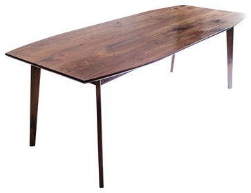 The Santa Monica: Solid Black Walnut Dining Table, Mid Century Modern modern-dining-tables