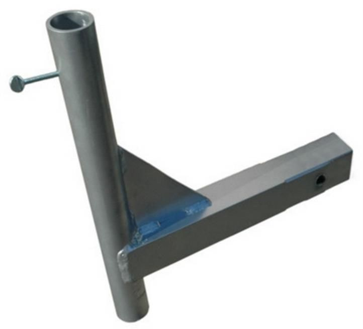 Trailer Hitch Flag Pole Mount To Hold Aerial Pole Welding Projects Welding Projects