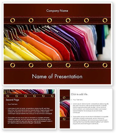Colored T Shirts Powerpoint Template Powerpoint Templates Powerpoint Templates