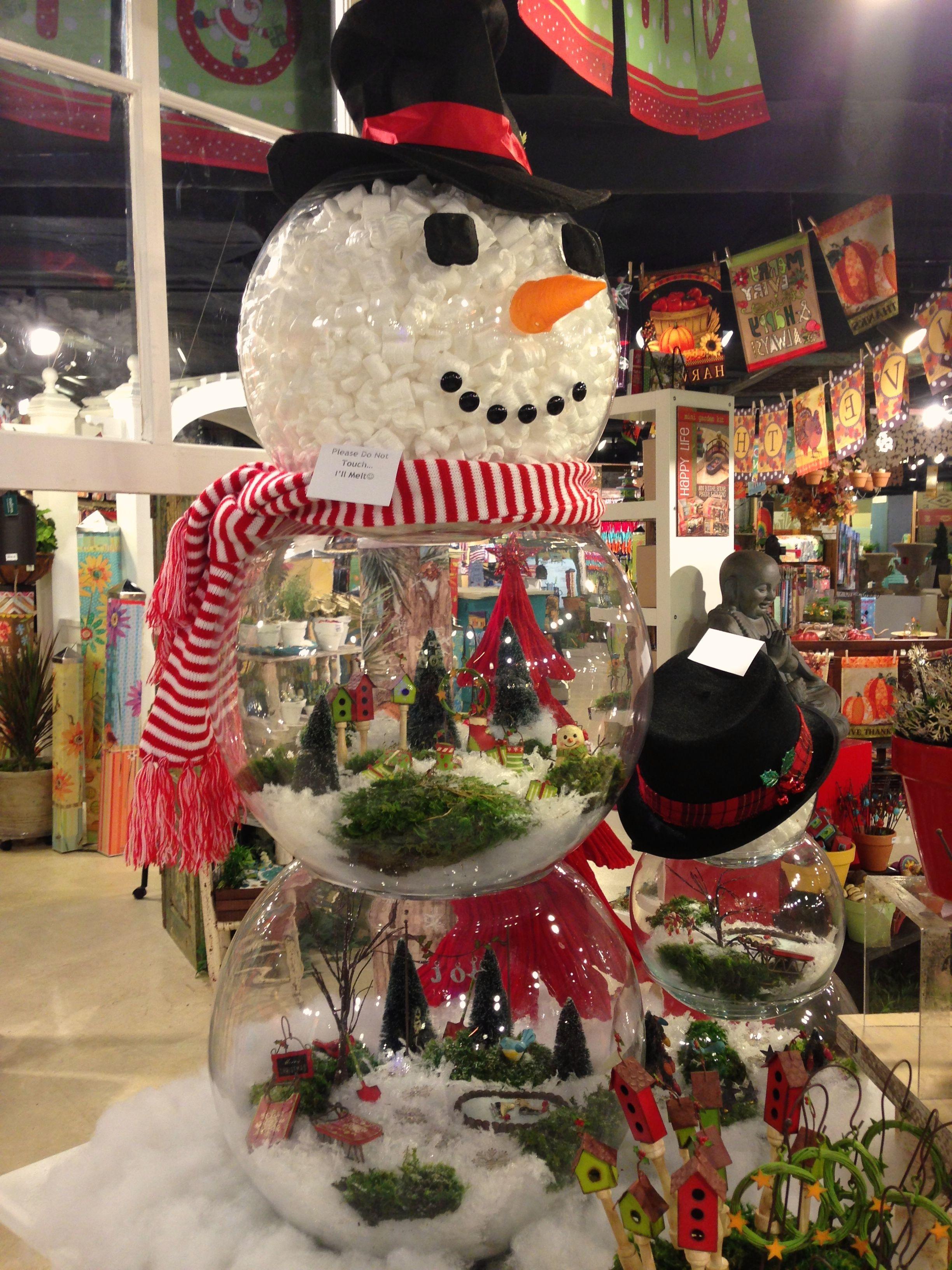 Gypsy Garden Fishbowl Snowman Christmas Fairy Christmas Diy Christmas Crafts