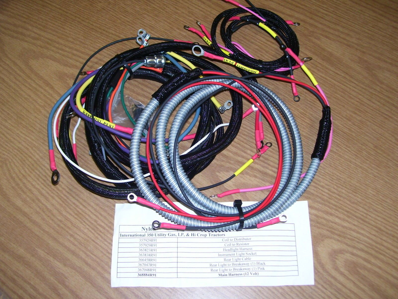 Other Lawnmowers 159929 International 350 Utility Gas Tractor 12v Farmall Cub Wiring Harness Harnesses 8 Included In