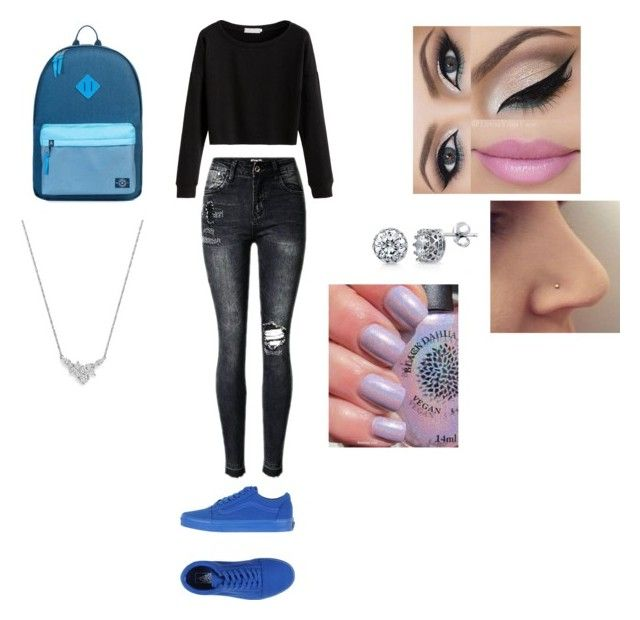 """""""Chillin"""" by malaysiasmith21 ❤ liked on Polyvore featuring Vans, Parkland, Bloomingdale's, BERRICLE and Sexy"""