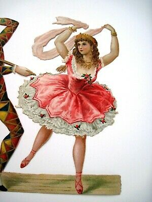 Vintage Piercer cut with/Ballerina & Jester in Mask Dancing Down | eBay