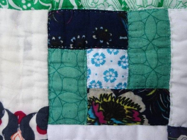 Baby quilt with Vietnamese fabrics 13.3.14
