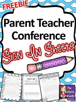 parent teacher conference sign in sheets freebie kindergartenklub