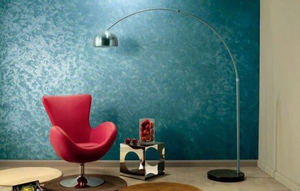 Attirant Blue Textured Wall Paint