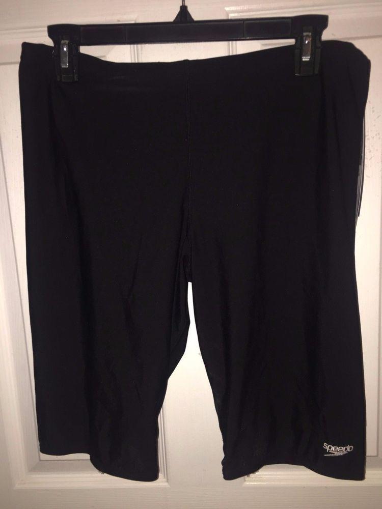 Nwt speedo black size 36 mens poly jammer swimsuit