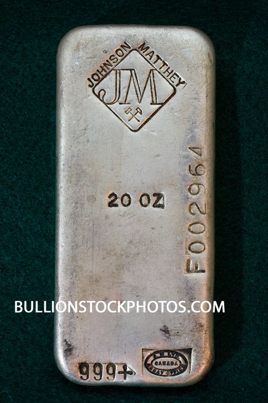 Old Poured Johnson Matthey Silver Bullion Bar 20 Troy Ounce 999 Fine Silver Ingot Unique Serial Number Stam Gold And Silver Coins Silver Bullion Gold Money