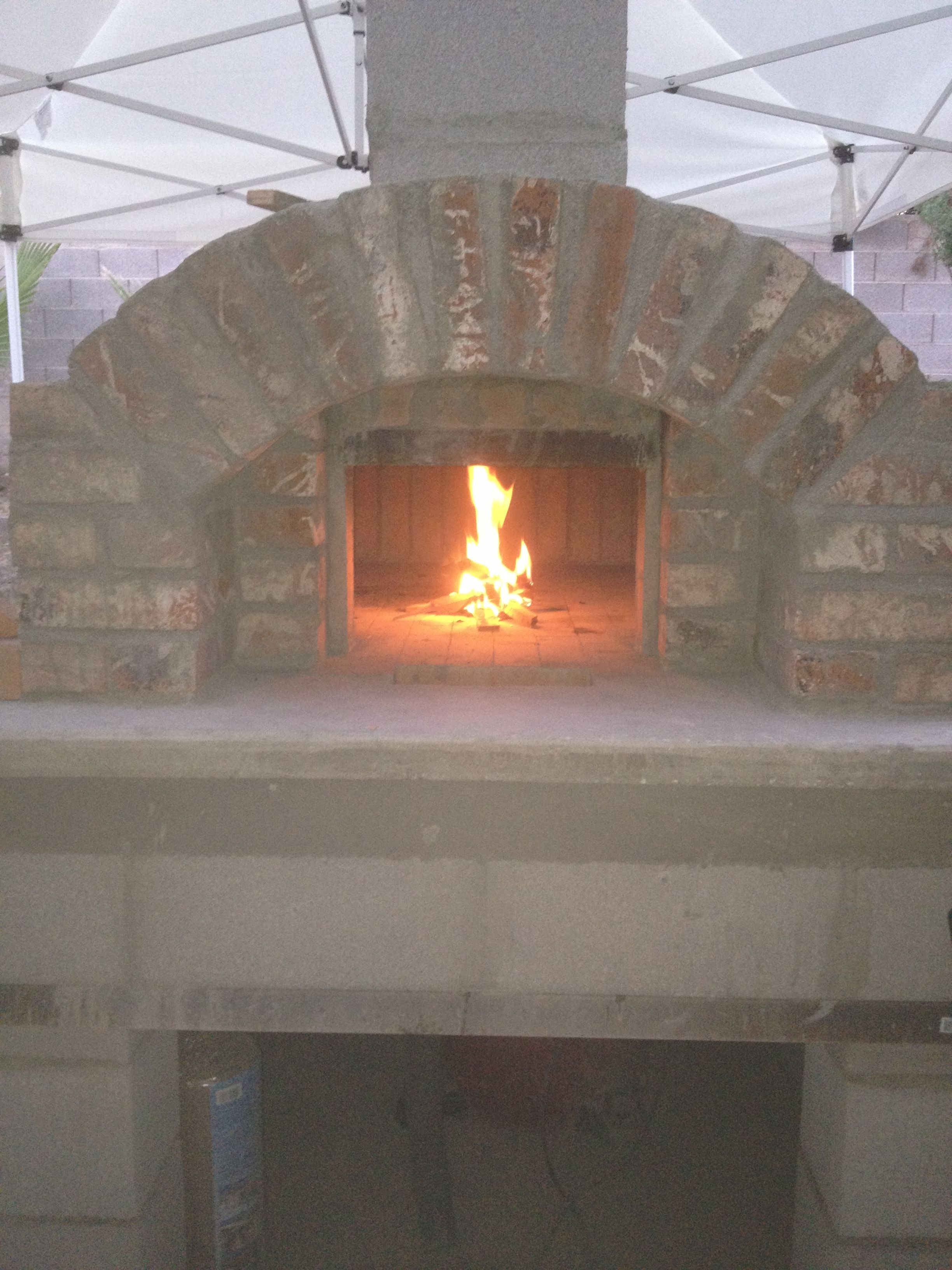 first fire it did not explode pizza oven build pinterest