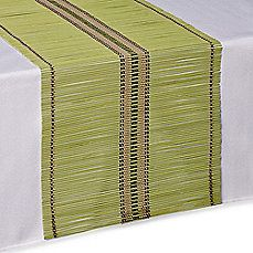 Image Of Bamboo Table Runner In Green With Images Bamboo Table