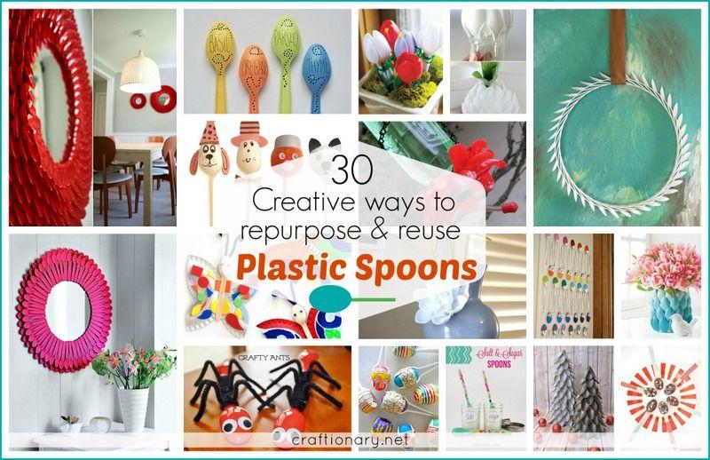 Creative Plastic Spoon Ideas Home Kids Craftionary