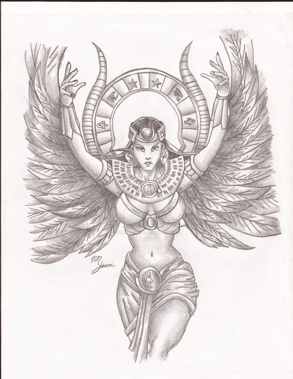 Goddess isis by on deviantart for Egyptian tattoo flash