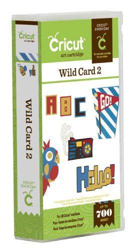 Cricut Wild Card 2 Cartridge Cards Cricut Cartridges Scrapbook Supplies