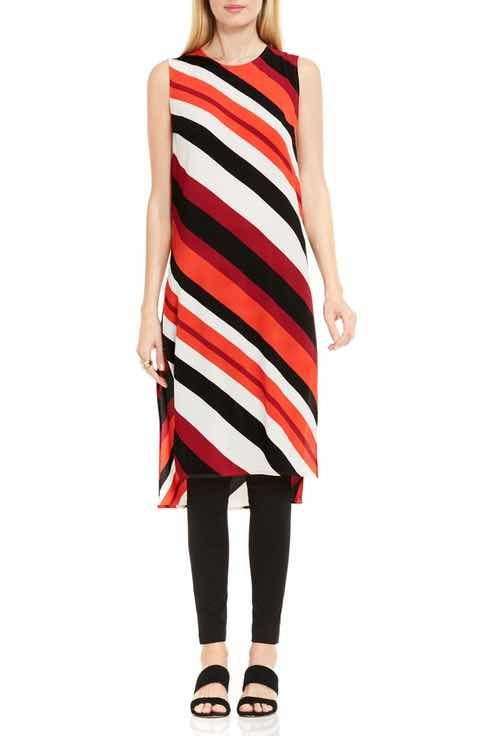 3823cc65646d9d Vince Camuto Nautical Bands Side Slit Tunic | tops | Tunic, Tunic ...