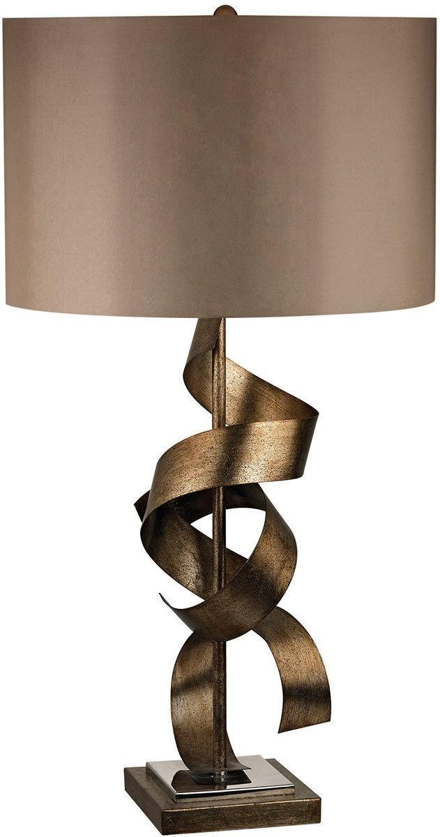 0 031163 Allen 1 Light 3 Way Led Table Lamp Roxford Gold Antique
