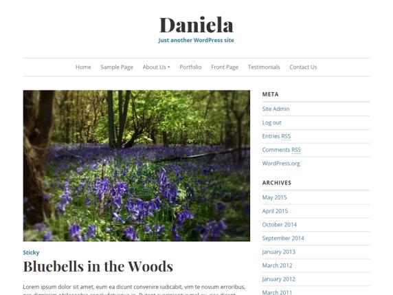 WordPress › Daniela « Free WordPress Themes   Tumblr Design   Pinterest