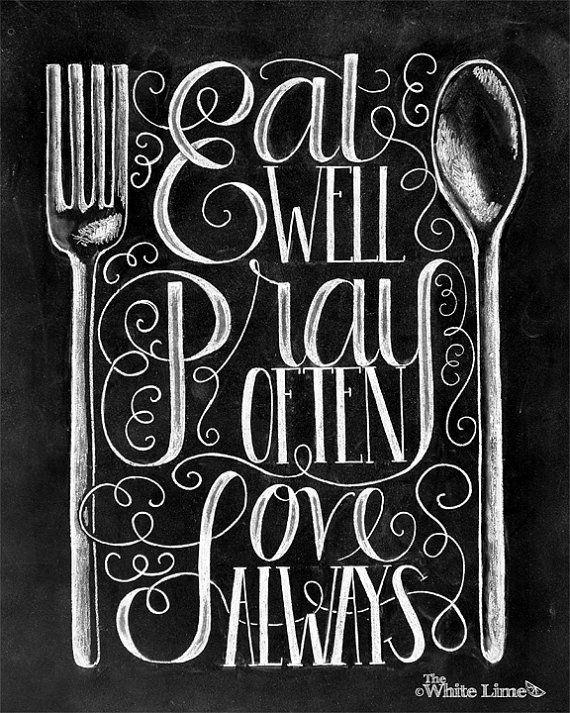 Kitchen Print Kitchen Quote Kitchen Sign Kitchen Art Chalk Art