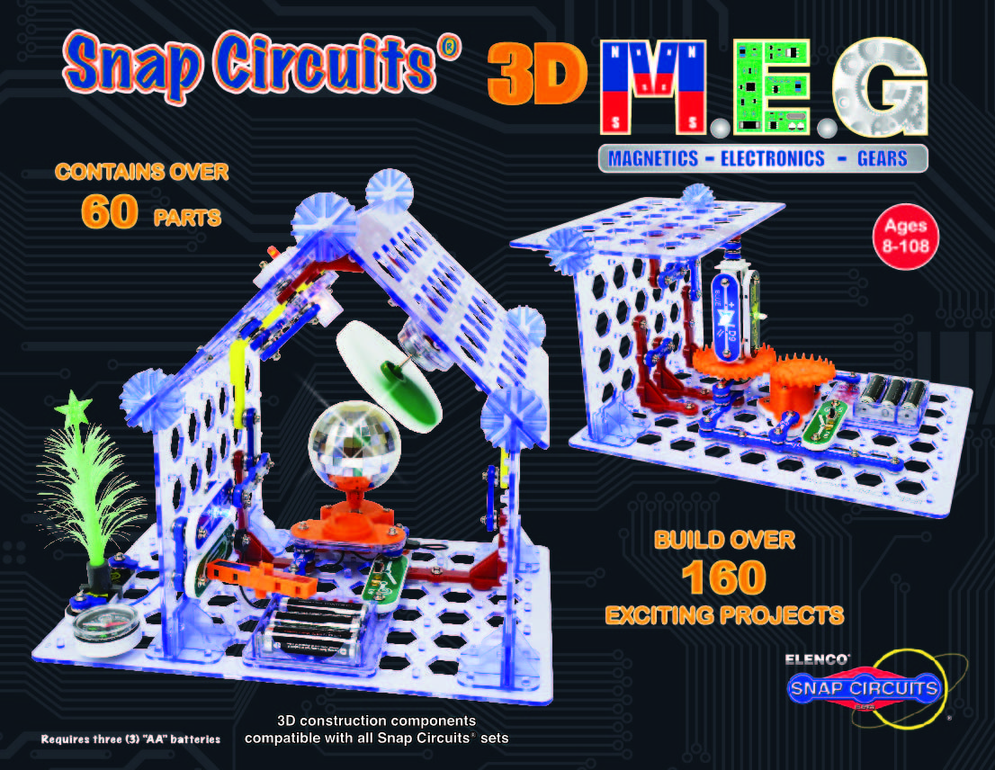 Snap Circuits 3d Meg Magnetics Electronics Gears Learn The Amazoncom Sc300 Discovery Kit Toys Basics Of Electricity Engineering And Circuitry With Full Color Curriculum Rich