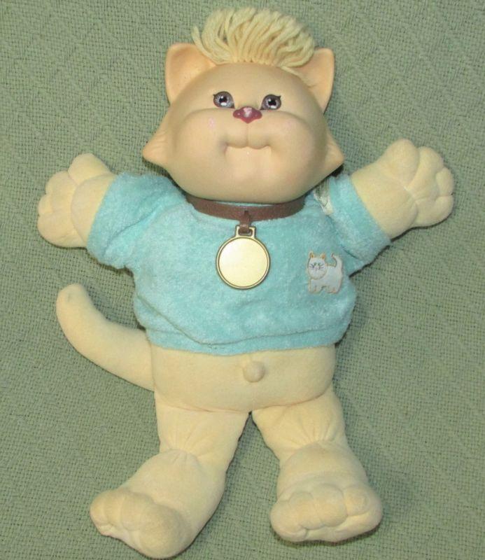 1983 Cabbage Patch Kids Koosas Cat Dog Vintage Coleco Green Shirt Plush Doll Toy Plush Dolls Cabbage Patch Kids Doll Toys