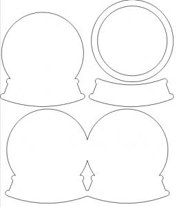 boule_neige Plus | Cartes avec forme, Cartes faites main, Art carte