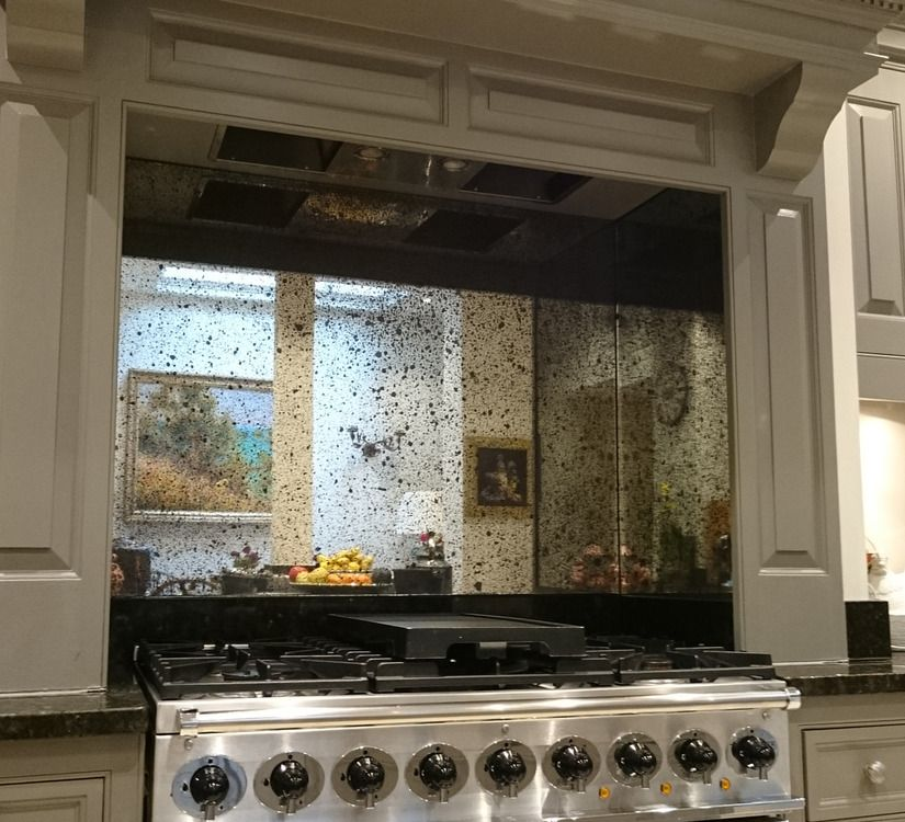 Vintage Sparkle Antique Mirror Aga Splashback Dream