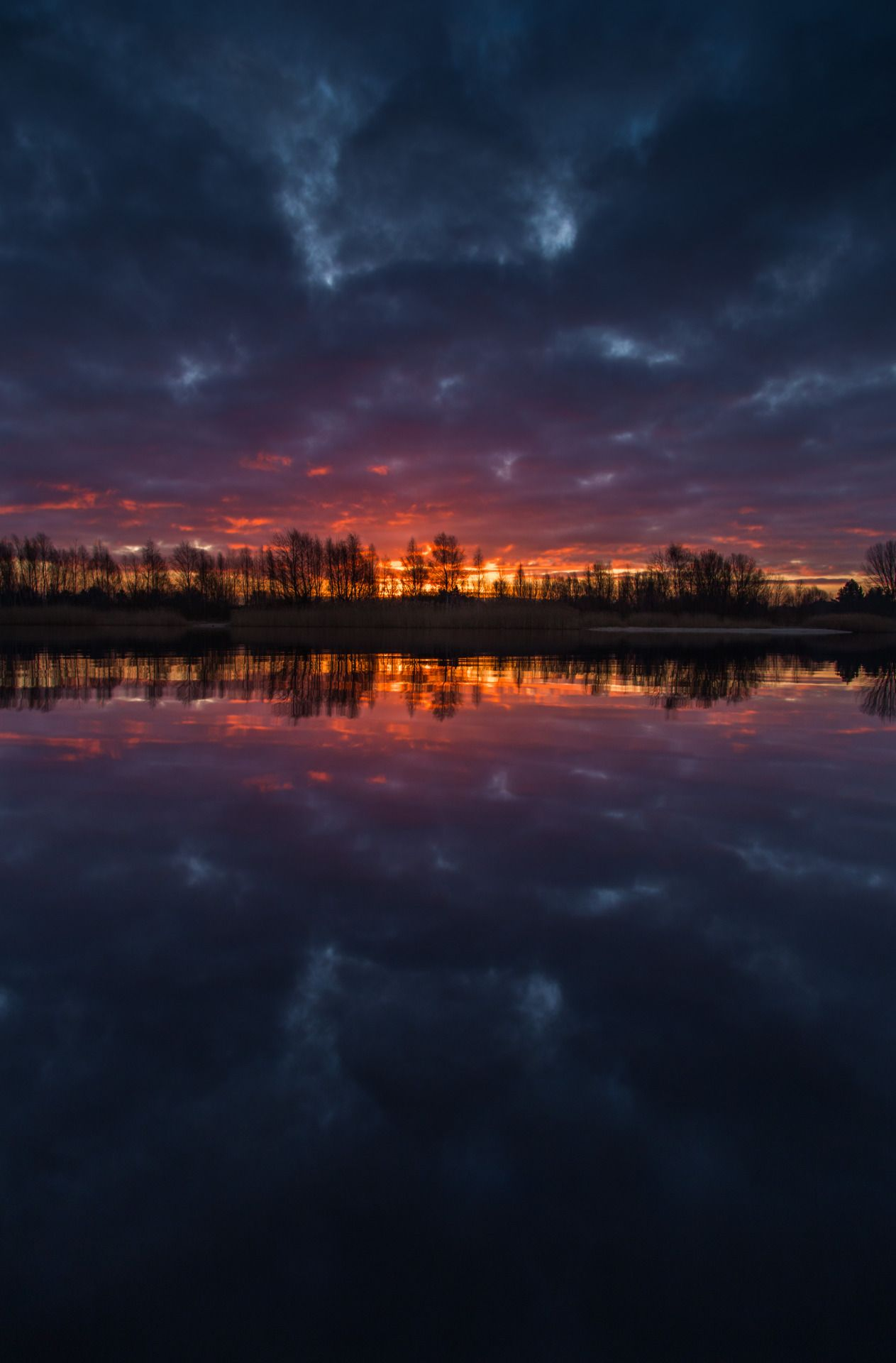 Dark reflections by Denny Bitte - #cloudy #lake #landscape #nature #on #original #photographers #photography #reflections #sunrise #tumblr