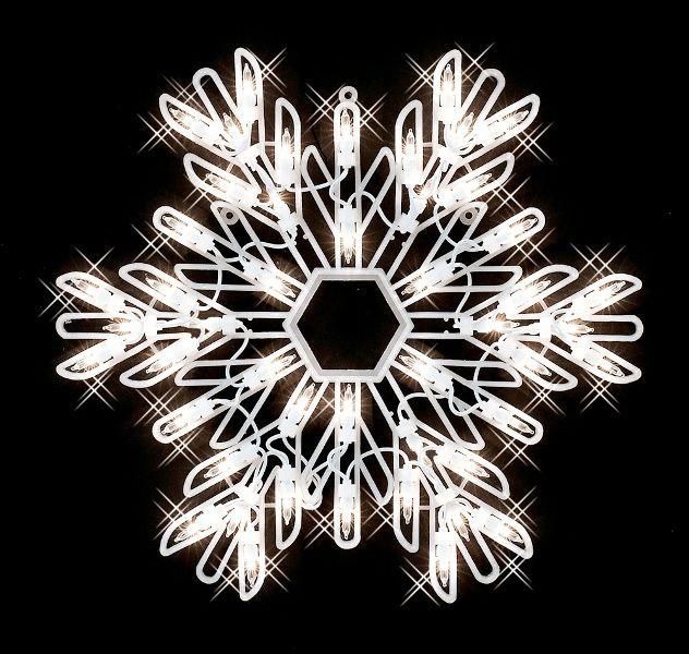 15 Snowflake Light Outdoor Christmas Decor Snowflake Lights