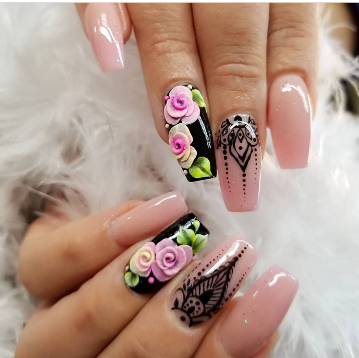Uñas Semipermanentes Decoradas Pin De Jancy Lopez Rivera En Coffin Nail Design Nails