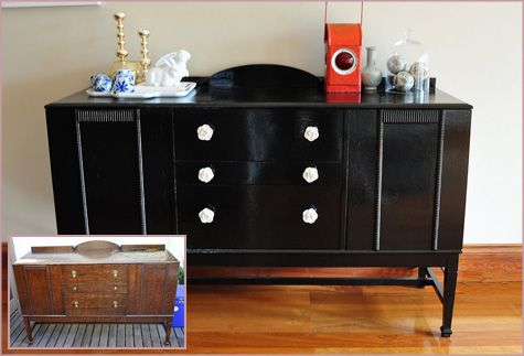 Before After DIY Handmade Furniture Dining Room Sideboard