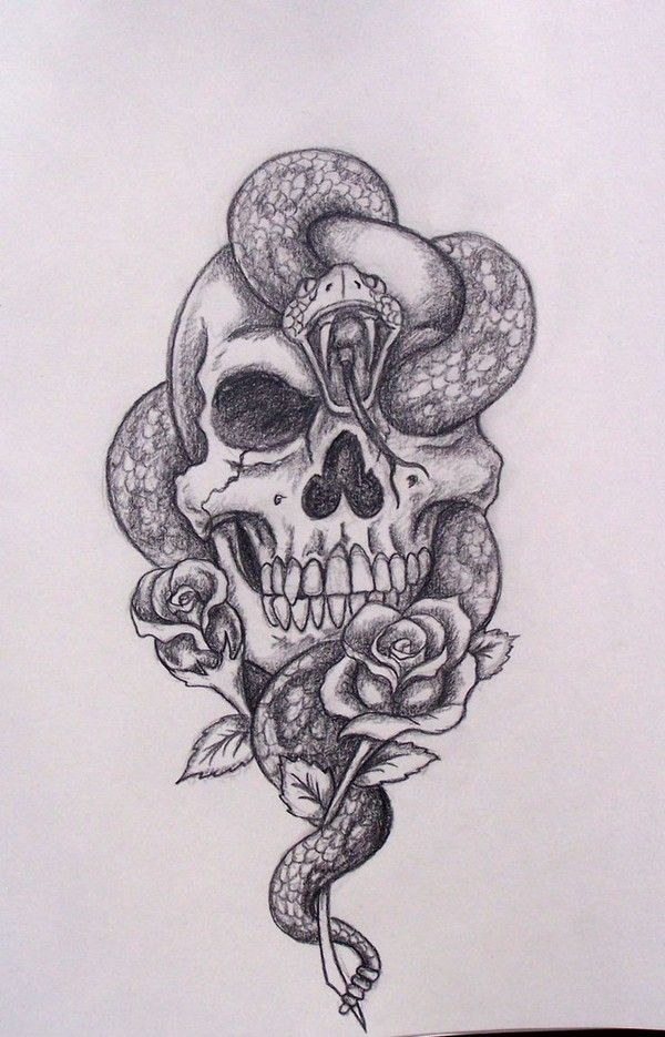79 Extremely Creative Tattoo Drawings To Try At Home Skull Tattoo Design Tattoos Skull Drawing