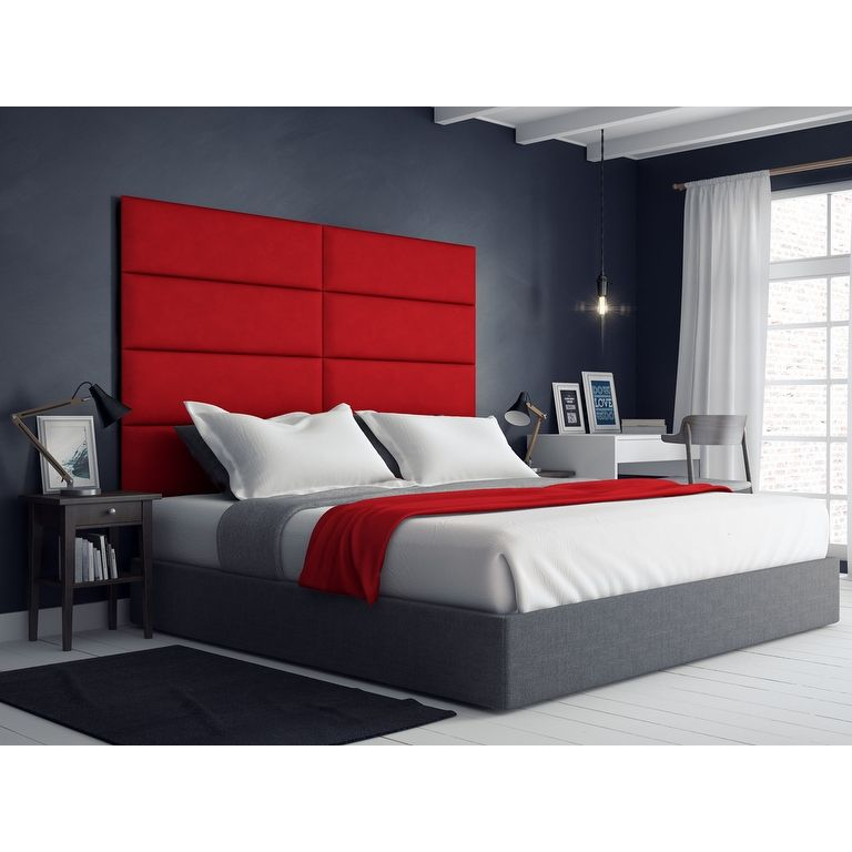 Vant Upholstered Wall Panels (Headboards) Sets Of 4   Micro Suede Grape    39 Inch   Twin King.