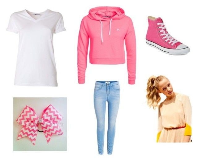 """""""Out wear"""" by kotoura-san ❤ liked on Polyvore featuring beauty, Only Play, T By Alexander Wang, Converse and Hershesons"""
