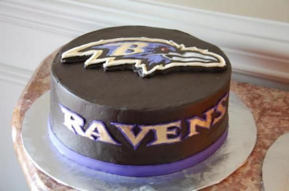 Magnificent Baltimore Ravens Cake With Images Baltimore Ravens Cake Super Personalised Birthday Cards Epsylily Jamesorg