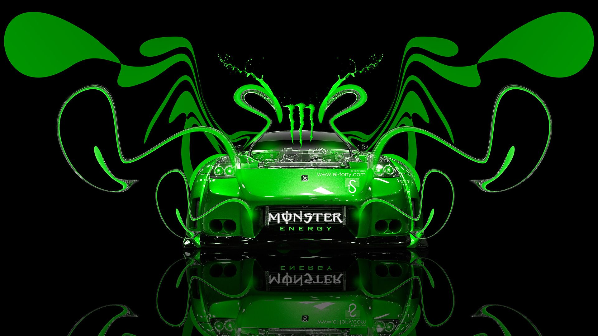 Monster Energy Car Hd Picture 74 High Definition Painting Image