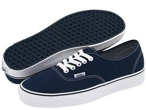 50d71a29cab2f8 Vans Authentic Classic Canvas Dress Blue Navy White Skate Men Women ...